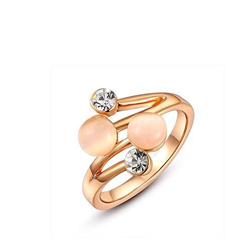 Suyi White Gold Plated Double Diamond