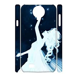 TRDJGOO 3D Bloomingbluerose Elsa from Frozen. this Is Just Stunningly Beautiful Samsung Galaxy S4 Case for Girls Protective, Cell Phone Case for Samsung Galaxy S4 [White]