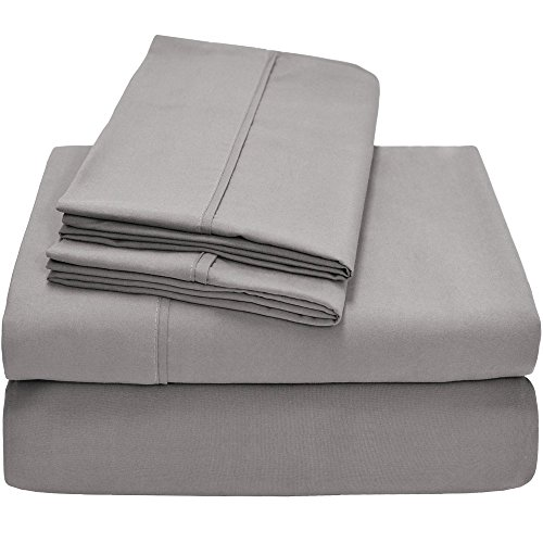 Premium 1800 Ultra-Soft Microfiber Collection Queen Sheet Set, Hypoallergenic, Easy Care, Wrinkle Resistant, Deep Pocket