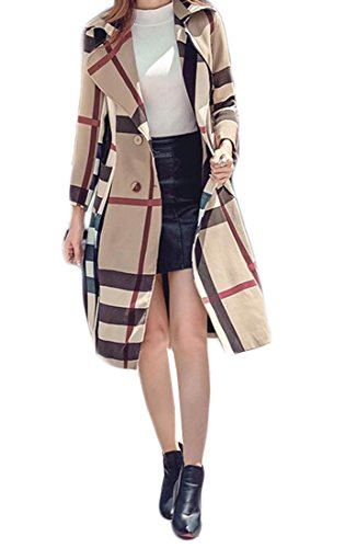 Plaid Belted Trench - 4