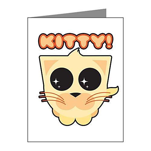 Note Card Cute Orange Kitty Kitten