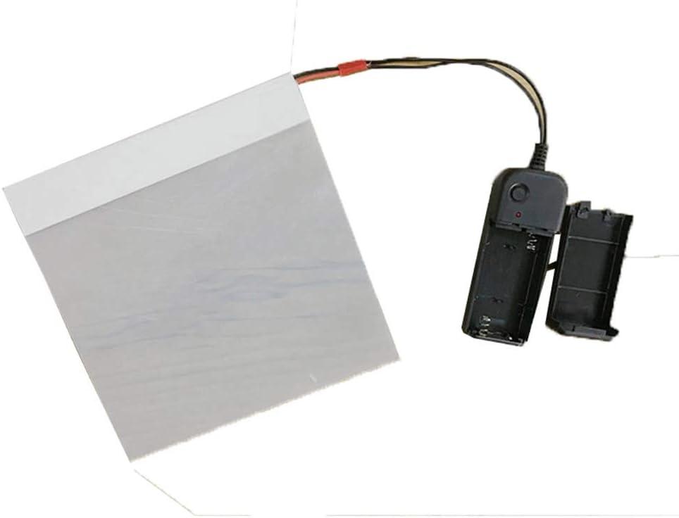 HOHOFILM Electronic PDLC Smart Film PDLC Switchable Smart Film Electric Smart Glass Film(15cmx15cm)