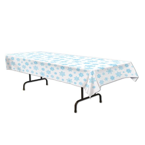 "Beistle 20432 Snowflake Tablecover, 54"" x 108"" for $<!--$5.20-->"