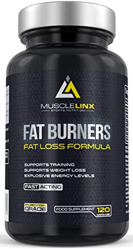 Fat Burners by Musclelinx 120 capsules lose weight burn fat increase energy