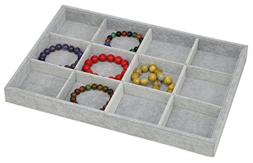 Ice Stackable - Stackable Ice Velvet Jewelry Tray Showcase Display Storage Organizer Functional