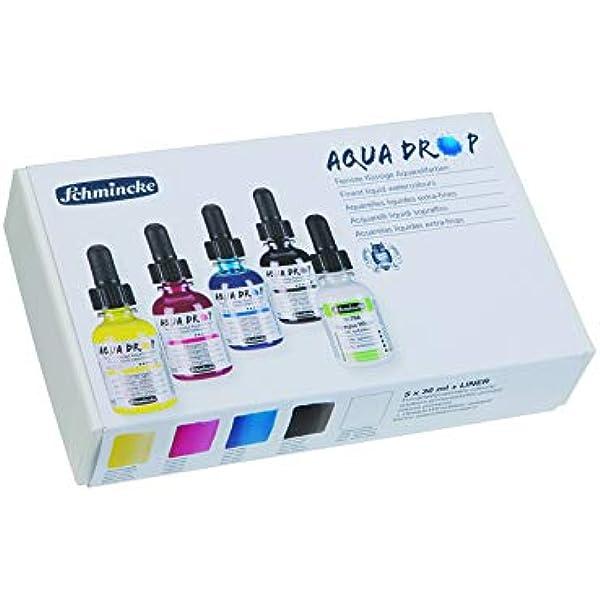 Schmincke Aqua Drop 78005097 - Juego de cajas de cartón (5 unidades, 30 ml), color blanco: Amazon.es: Bricolaje y herramientas