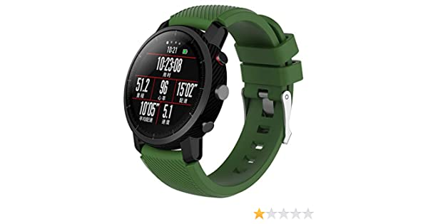 Modaworld _Correa de reloj Suave de Silicona Sports Band para HUAMI Amazfit Stratos Smart Watch 2 Correas de Reloj Inteligente Pulseras de Repuesto ...