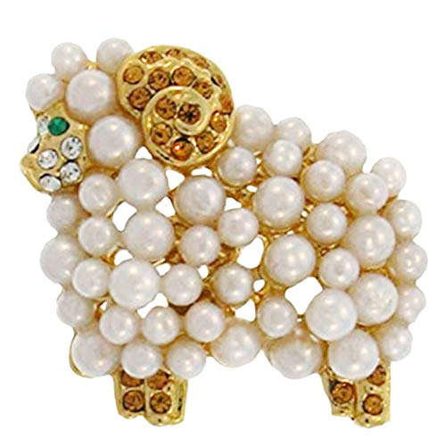 GirlPROPS(R) Lamb Ring, in Imitation Pearl with Gold Tone Finish