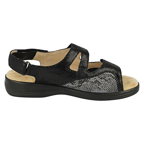 Mujer Reptile Padders Zapatos Black Negro Con Tacón YRCqrYx