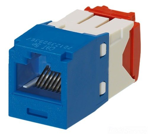 Panduit CJ5E88TGBU Category-5E 8-Wire TG-Style Jack Module, Blue
