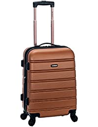 Rockland Luggage Melbourne 20 Inch Expandable Carry On, Brown