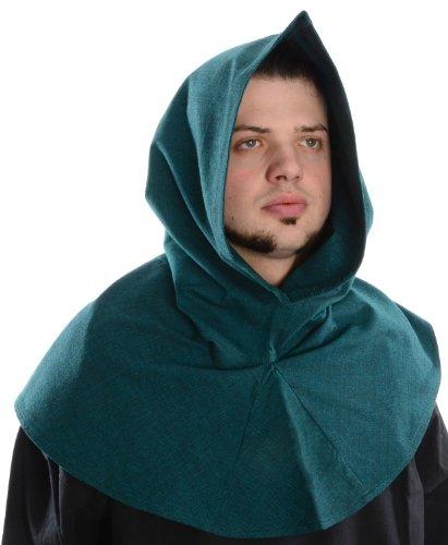 Hemad.De - Capuche Médiévale Longue En Pur Coton - Vert
