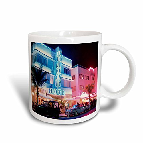 3dRose South Beach Miami Ceramic Mug, - Miami In South Outlets Beach