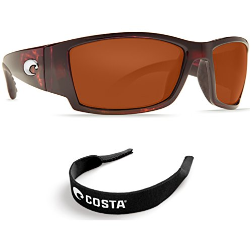Costa Del Mar Corbina Tortoise - 580G Copper Glass Lens w/ Free Costa Neoprene - Costa Mar Corbina Del 580g