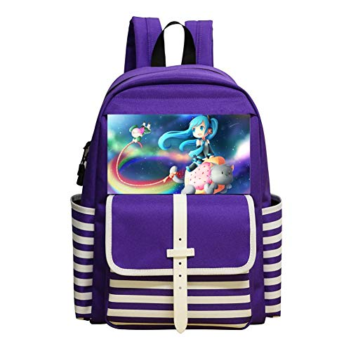 Cat Fashion Canvas Backpack Kids Travel Daypack ()