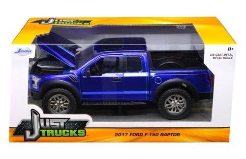 JADA 1:24-Just Trucks-2017 Ford F-150 Raptor (Blue) Diecast (Blue Ford Truck)