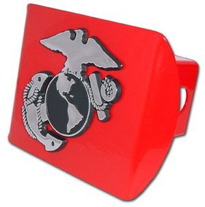 Marine (Insignia) ALL METAL Red Hitch Cover