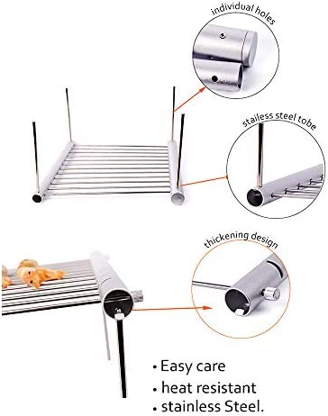 Konesky Camping Grill, Pliage Portable Accessoires de Remplacement de Grilles de Cuisson pour Barbecue pour les Pique-niques en Plein Air