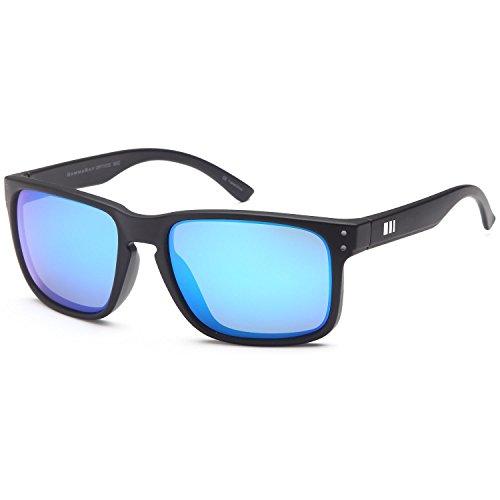 GAMMA RAY OPTICS Polarized Sunglasses for Men Blue Mirror Lens