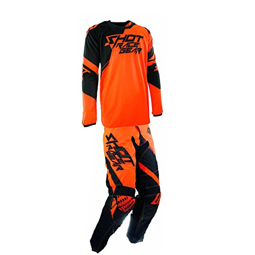 Shot Race Gear - Contact Claw Neon Orange Jersey/ Pant Combo - Size X-LARGE/ 36W