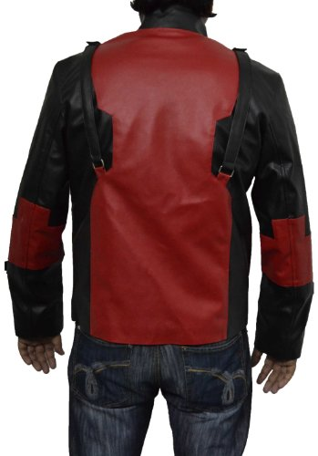 Deadpool costume, Mens deadpool costume, comic game faux leather jacket V1. All sizes available