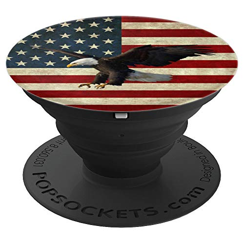 PopSockets: Vintage American Flag With Eagle - PopSockets Grip and Stand for Phones and Tablets ()