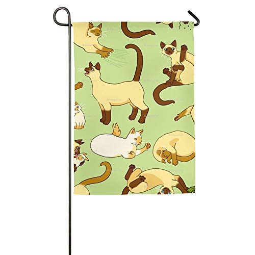 Mini Siamese Cats Animals Family Party Home Yard House Garden Flags 12 X 18 All-Weather Polyester Banners