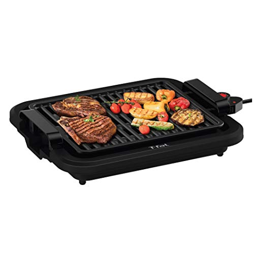 T-fal TG403D52 Compact Smoke-Less Indoor Grill with Sear Capability, 4 Servings, Black