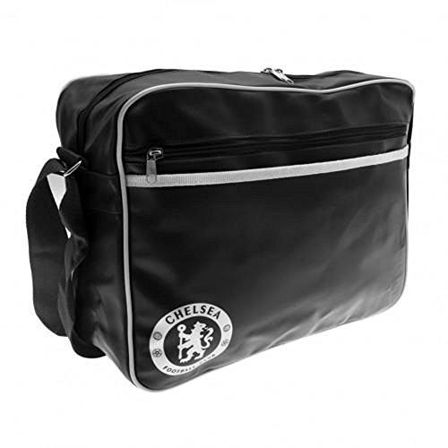 Chelsea FC Authentic Black Messenger (Black Jersey Messenger Bag)