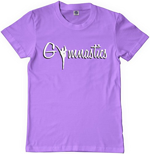 Threadrock Big Girls' Gymnastics Youth T-shirt S Lavender