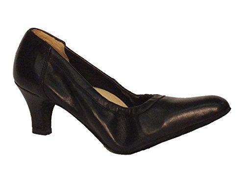 Vitiello Dance Shoes Decoltè standard - Zapatillas de danza de Piel para mujer Negro negro negro