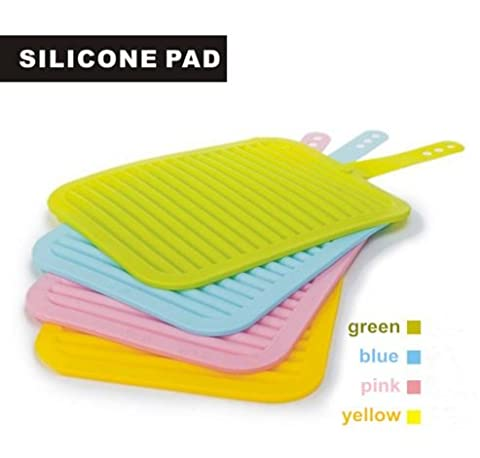 4 Large Size Silicone Kitchen Placemat Coasters (Size 9