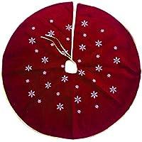 120cm printed Christmas tree skirt stylish fabric Christmas tree mat Xmas decoration red