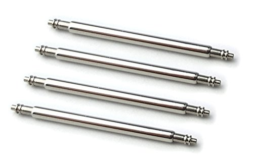 HEAVY DUTY 24mm SPRING BAR 1.8mm thickness Packet of Four Stainless Steel Watch Pins