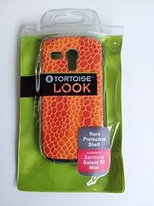 I8190 Galaxy S3 MINI diseño de tortuga LOOK Croco naranja