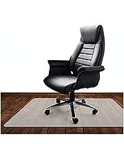 KLINOO | przezroczysta mata ochronna na podłogę, podkładka na krzesło biurowe | odporna na zarysowania | mleczna biel | Made in Germany