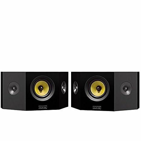 Fluance Signature Series Hi-Fi Bipolar Surround Sound Wide Dispersion Speakers for Home Theater (HFBP)- Natural Walnut HFBPW