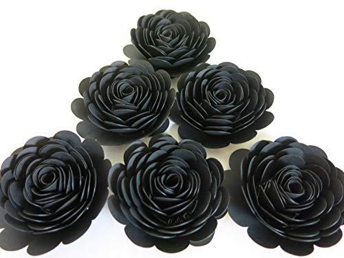 Black Paper Roses, Set of 6 3