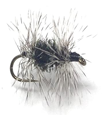 Feeder Creek Fly Fishing Trout Flies - GRIFFITH'S GNAT DRY - 12 Flies - 3 Size Assortment 14, 16, 18 (4 of Each Size) For Trout and Other Freshwater Fish