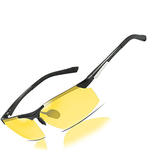 HD Night Vision Driving Polarized Glasses Anti-Glare Yellow Lens Mens forOutdoor