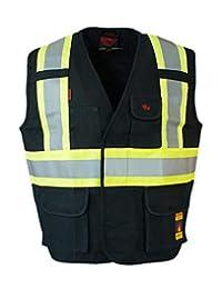 Fire Resistant (FR) Cotton Duck Hi Vis Safety Vest