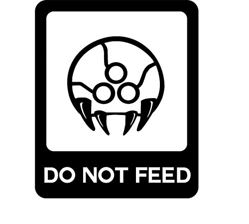Video Game Metroid Do Not Feed, Black, 6 Inch, Die Cut Vinyl Decal, For Windows, Cars, Trucks, Toolbox, Laptops, Macbook-virtually Any Hard Smooth Surface