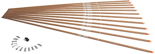 Carbon Express Heritage BuffTuff Classic Cedar Pattern Carbon Arrow Shafts (12 Pack), Size 150