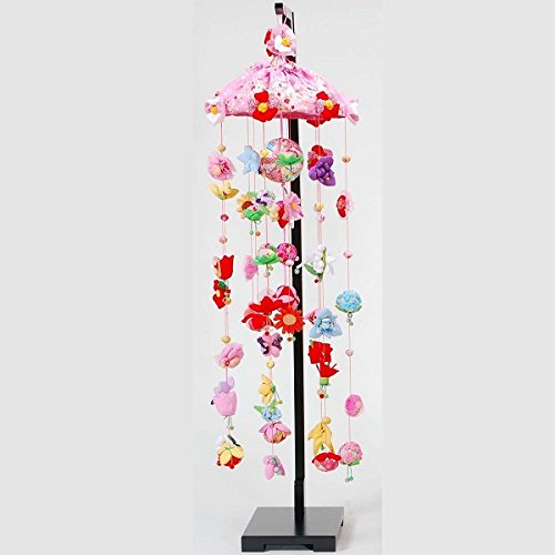 吊るし飾り 12ヵ月の花の蓮 大 スタンド付き ya-3-5l 飾り台セット   B075KZF4T8
