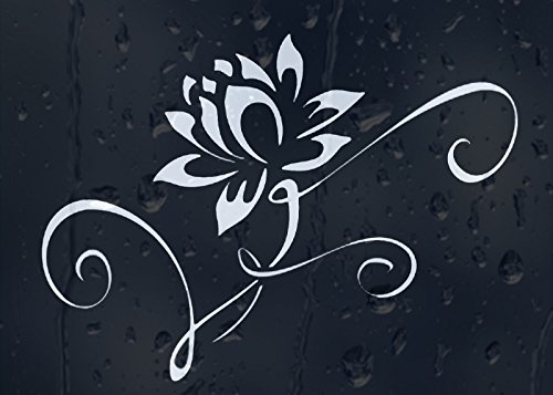 Vinyl Stickers White Water Lily Flower Decal for Car Window Bumper Panel Laptop -