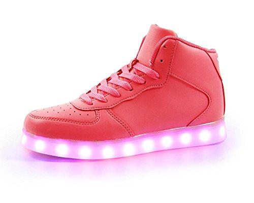 7dcd6f419a0a FLASHKICKS Jump - Premium LED Shoes Bright Light Up Sneakers High ...