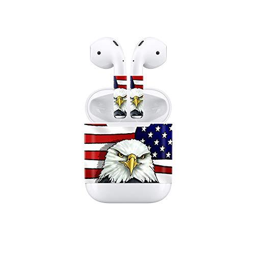 Vinyl Skin Decal for Airpods Bluetooth Earphone Case Protective Sticker Wrap Cover Skins-Eagle