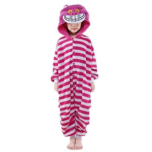 AGoGo Women's Sleepwear Kids Cosplay Pikachu Onesies Cartoon Costume Christmas Costume (10,Cheshire -