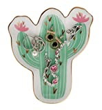 Cactus Ring Holder Jewelry Tray Ceramic Trinkets Plate Jewelry Holder Home Decoration - Perfect for Holding Necklace, Earrings, Rings, Bracelet, etc.