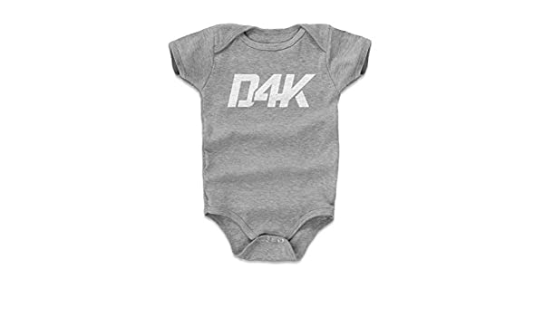 555a6a398d0 Amazon.com  D4K Dak Prescott Baby Clothes   Onesie (3-24 Months) - Dak  Prescott Logo  Sports   Outdoors